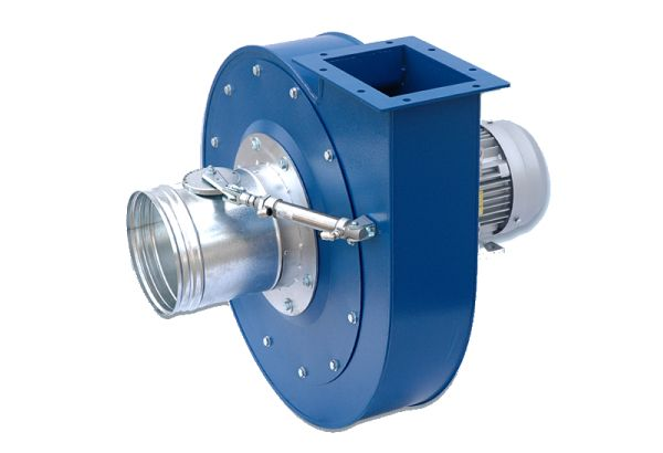Special executions Fans with on-off valve on the inlet side and regulating valve on the outlet side