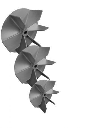 Ventola centrifuga saldata a pala aperta